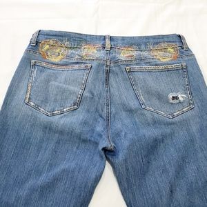 DKNY Jeans with Embroidery Boot Cut